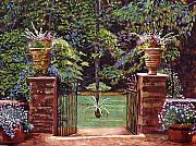 Tables Framed Prints - English Garden Elegance Framed Print by David Lloyd Glover