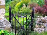 No Trespassing Prints - English Garden Gate Print by Jen White