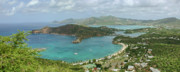 Panoramic Ocean Framed Prints - English Harbour Antigua Framed Print by John Edwards