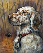 Bird Dogs Posters - English Setter Poster by Alice Taylor