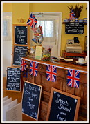 Blackboards Prints - English Tearoom Print by Carla Parris