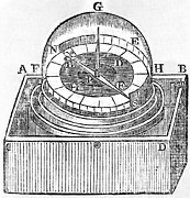 1750s Photos - Engraving Of An Early Azimuth Compass by Middle Temple Library