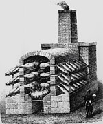 Sulphuric Acid Posters - Engraving Of Early Kiln For Making Sulphuric Acid Poster by
