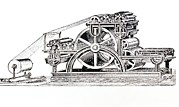 Printing Prints - Engraving Of The Bullock Rotary Press Of 1865 Print by Dr Jeremy Burgess