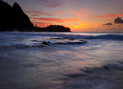 Tunnels Beach Prints - Engulfed by the Sea Print by Mike  Dawson