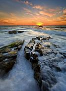 Sunset Seascape Posters - Engulfed Poster by Mike  Dawson