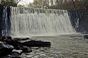 White River Scene Photo Originals - Enhanced Raging Waterfall by Michael Waters