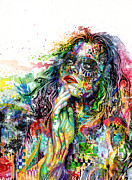 Black Mixed Media Metal Prints - Enigma Metal Print by Callie Fink