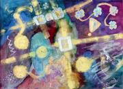 Entertaining Mixed Media Prints - Enigma Print by Don  Wright