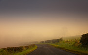 Emotions Prints - Enigmatic. Misty Roads of Scotland Print by Jenny Rainbow