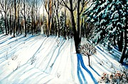 Christmas Greeting Originals - Enigmatic Shadows by Alla Dickson