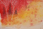 Christmas Greeting Originals - Enigmatic watercolors by Alla Dickson