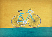Italian Mixed Media Prints - Enjoy the Ride Print by Linda Tieu