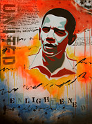 Obama Paintings - Enlightened by Hughart and Kirsch