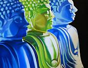 Statue Pastels Prints - Enlightened Print by Melanie Cossey
