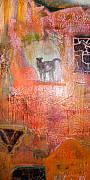 Discovered Mixed Media - Enlightened Petroglyphic Sedona Mount by Anne-Elizabeth Whiteway