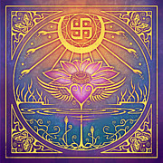 Hippie Digital Art Posters - Enlightenment Poster by Cristina McAllister