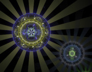 Fractal Digital Art Posters - Enlightenment Poster by David April