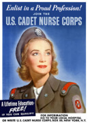Nursing Framed Prints - Enlist In A Proud Profession Framed Print by War Is Hell Store