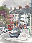 Plein Air Metal Prints - Enniscorthy Metal Print by Donald Maier