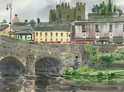Plein Air Metal Prints - Enniscorthy Morning Metal Print by Donald Maier