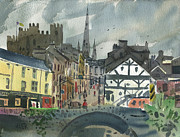 Plein Air Metal Prints - Enniscorthy on the Slaney Metal Print by Donald Maier