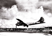 Atom Bomb Prints - Enola Gay Landing After Hiroshima Print by Photo Researchers