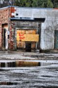 Abandoned Buildings Photo Prints - Enough Said Print by Emily Stauring