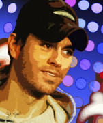 Keaton Digital Art - Enrique Iglesias by John Keaton