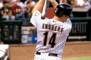 Astros Photos - Ensberg at Bat by Teresa Blanton