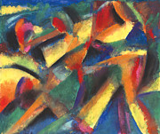 Abstract Expression Pastels - Ensename by John Crespo Estrella