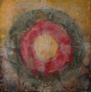Encaustic Paintings - Enshrine - Mindfulness by Janelle Schneider