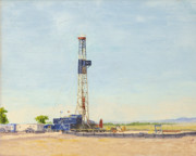 Rockies Paintings - Ensign rig 17 by Galen Cox