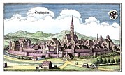 Alsace Framed Prints - Ensisheim, France, 17th Century Artwork Framed Print by Detlev Van Ravenswaay