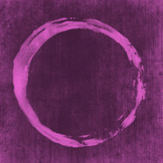 Mauve Digital Art Posters - Enso 4 Poster by Julie Niemela