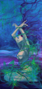 Live Art Painting Prints - Entangled in your love... Print by Dorina  Costras