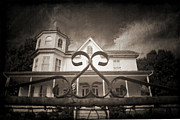 Haunted House Digital Art Metal Prints - Enter if you Dare Metal Print by Jane Brack