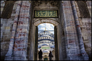 Blue Mosque Posters - Enter Poster by Joan Carroll