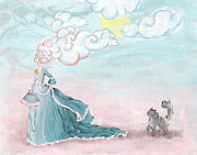 Kitty Cat Prints - Enter Lady Spring Print by Cindy Garber Iverson