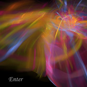 Library Digital Art - Enter by Margie Chapman