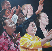 African-american Paintings - Enter-Racial Praise by Belle Massey