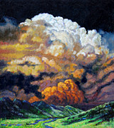Storm Clouds Paintings - Entering The Valley by John Lautermilch