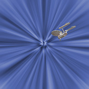 Enterprise Photo Posters - Entering Warp Speed Poster by Peggie Strachan