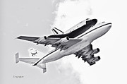 Enterprise Metal Prints - Enterprise Shuttle Piggyback Ride Metal Print by Regina Geoghan