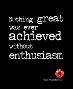 Emerson Quote Prints - Enthusiasm Print by Kate McKenna