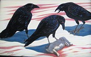 Crows Pyrography - Entitled by Peter Marshall