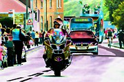 Police Art Digital Art - Entourage by Sharon Lisa Clarke