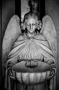 Religious Statues Prints - Entrance angel Print by Anthony Citro