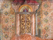 Greek Orthodox Painting Originals - Entrance by Constantinos Louca