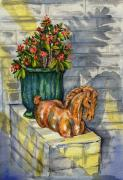 Terra Paintings - Entrance Decor by Lynne Haines